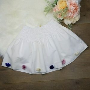 🔴Crewcuts pull-on skirt flower embellishments